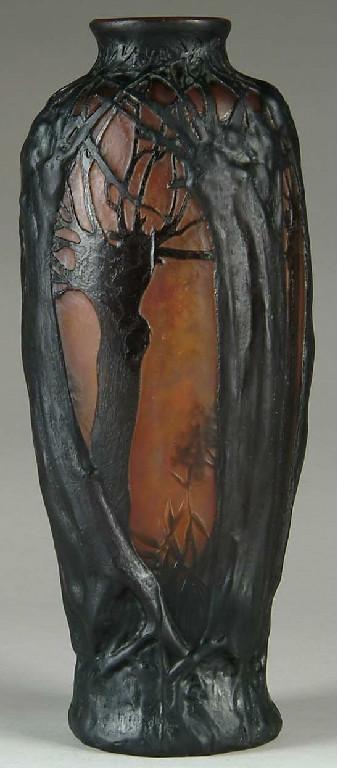 Daum Nancy Tree Scene Vase Value And Appraisal Daum Nancy Antiques