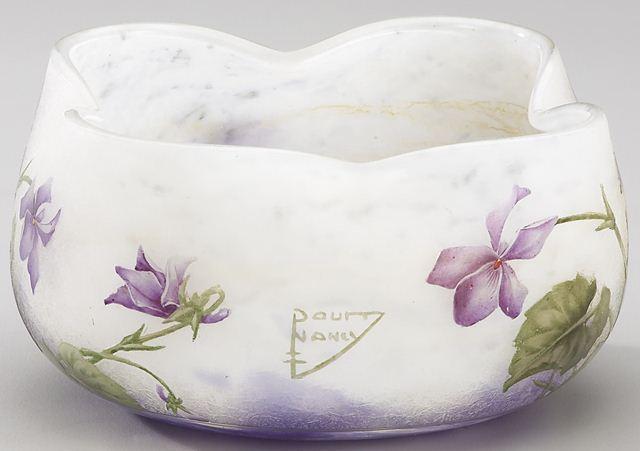 Daum Nancy Violets Vase Value And Appraisal 187 Daum Nancy