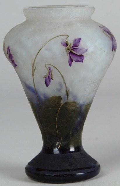 Daum Nancy Violets Vase Value And Appraisal Daum Nancy Antiques